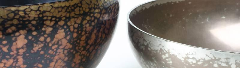 Shakudo and shibuichi bowls